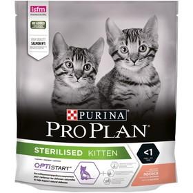 Сухой корм PRO PLAN для стерилизованных котят, лосось, 400 г