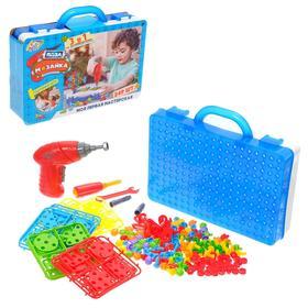 Конструктор в чемоданчике «Создавай и играй», с электрической дрелью, 249 деталей