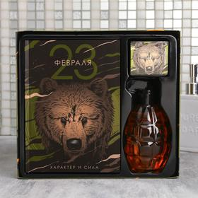 "Набор ""Характер и сила"" гель для душа граната 250 мл аромат парфюма, ежедневник, мыло"