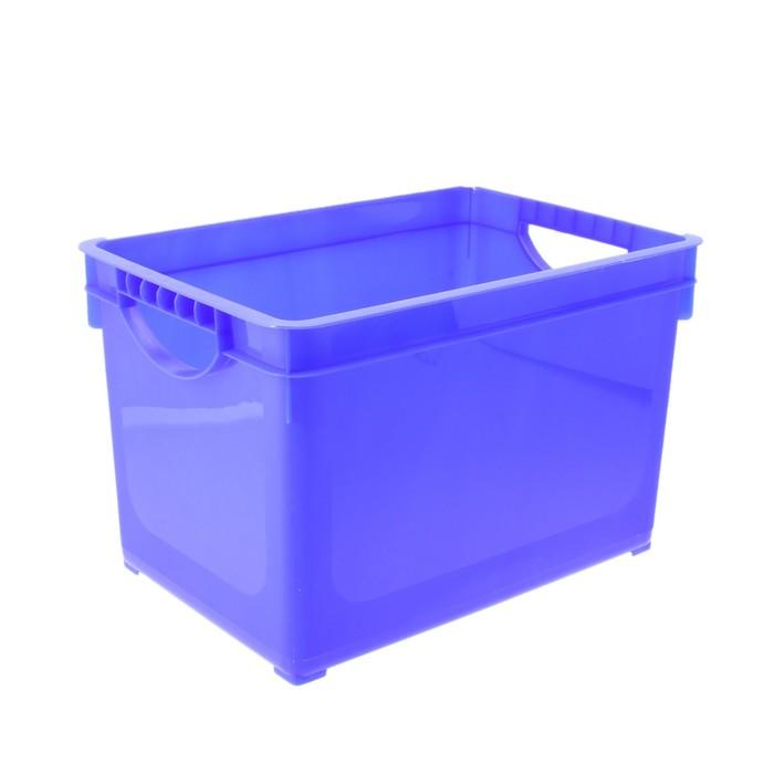 Ящик для хранения 19 л, цвет МИКС