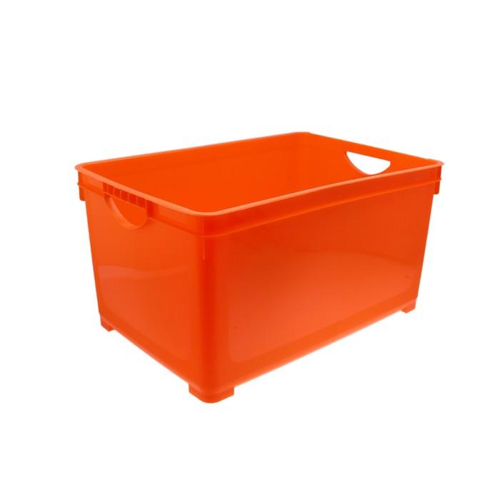 Ящик для хранения 48 л, цвет оранжевый