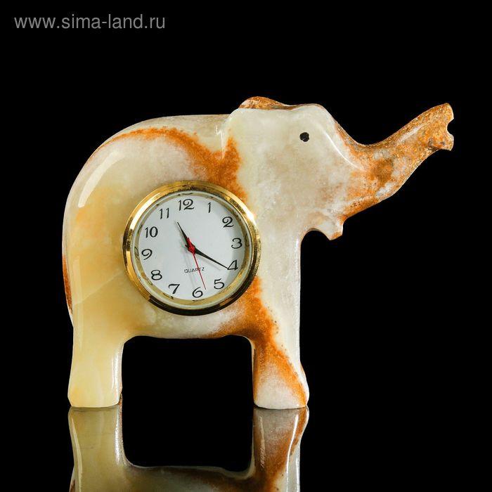 """Часы слон оникс 4,5""""  11*8,5*4 см"""