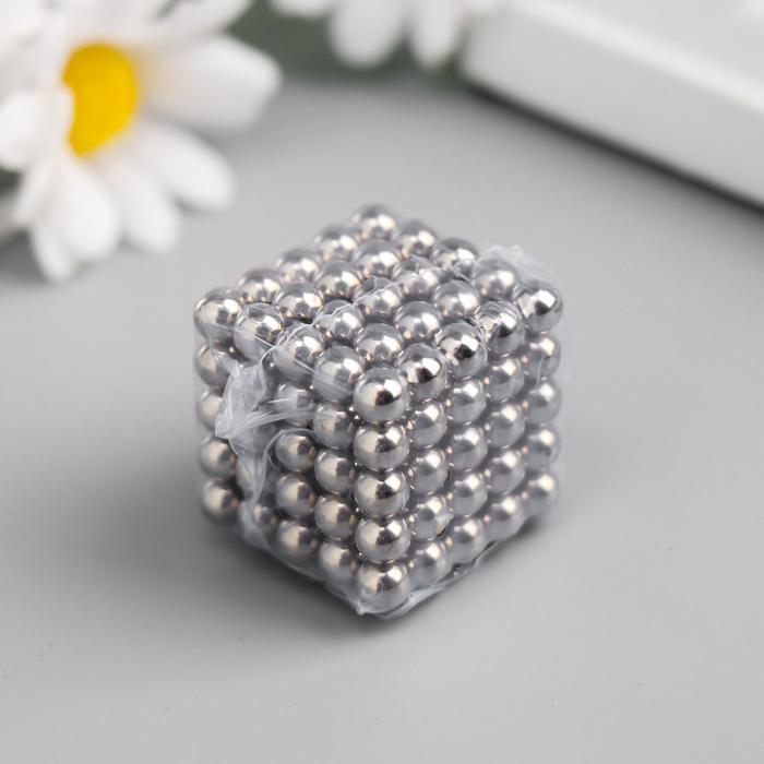 Неокуб серебряный, 125 шариков d=0,6 см