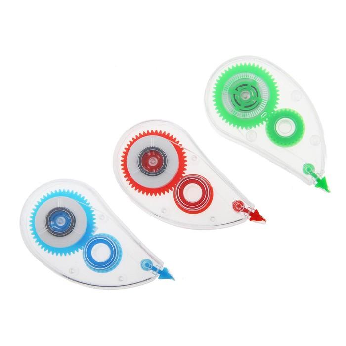 Корректор-лента 5м*5мм прозр-тонир МИКС