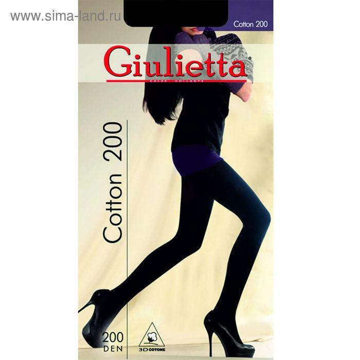 Колготки женские Giulietta COTTON 200 (nero, 5XL)