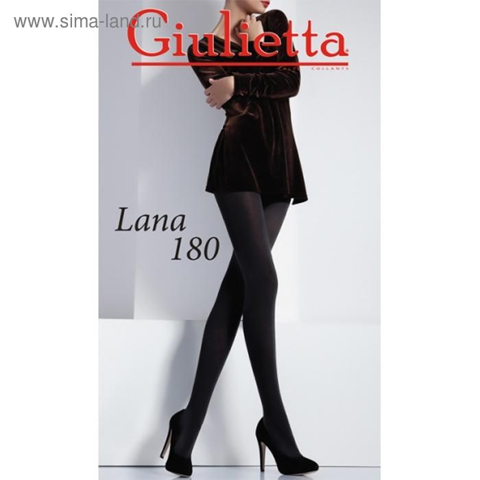 Колготки женские Giulietta LANA 180 den, цвет чёрный (nero), размер 4