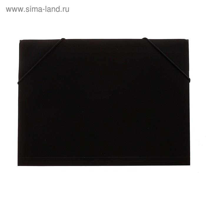 Папка на резинке формат А5 350мкр черная