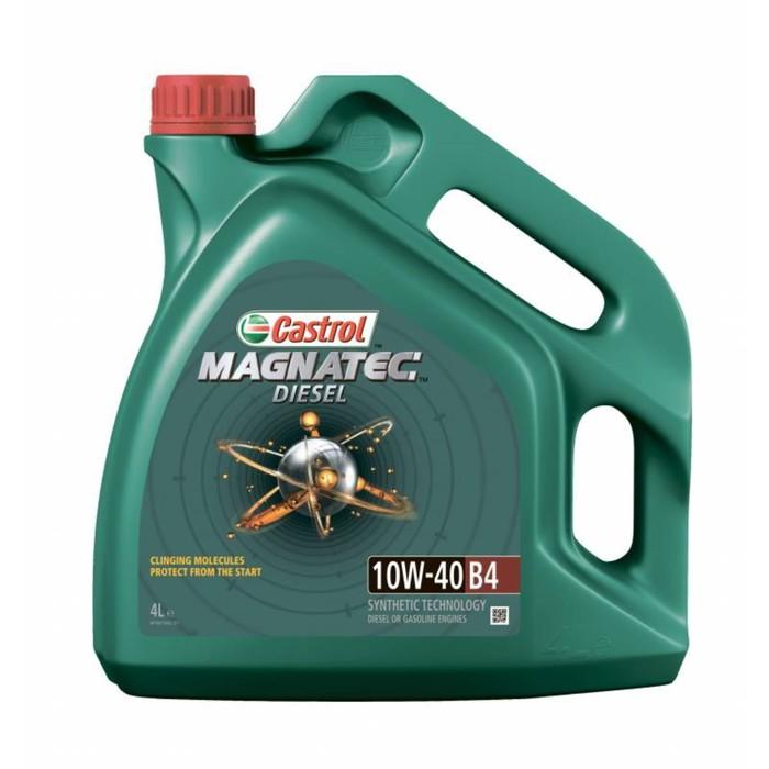 Моторное масло Castrol Magnatec Дизель SAE 10W-40 В4, 4 л