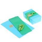 """Набор для упаковки подарка """"Морская волна"""" (бумага упаковочная+декор)"""