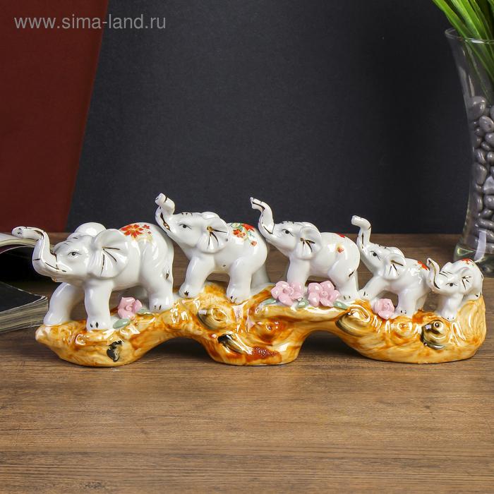 """Нэцкэ """"Пять слонов на ветке"""""""