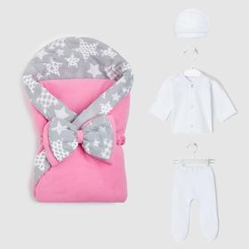 Комплект для новорождённых, цвет розовый, рост 56-62 см