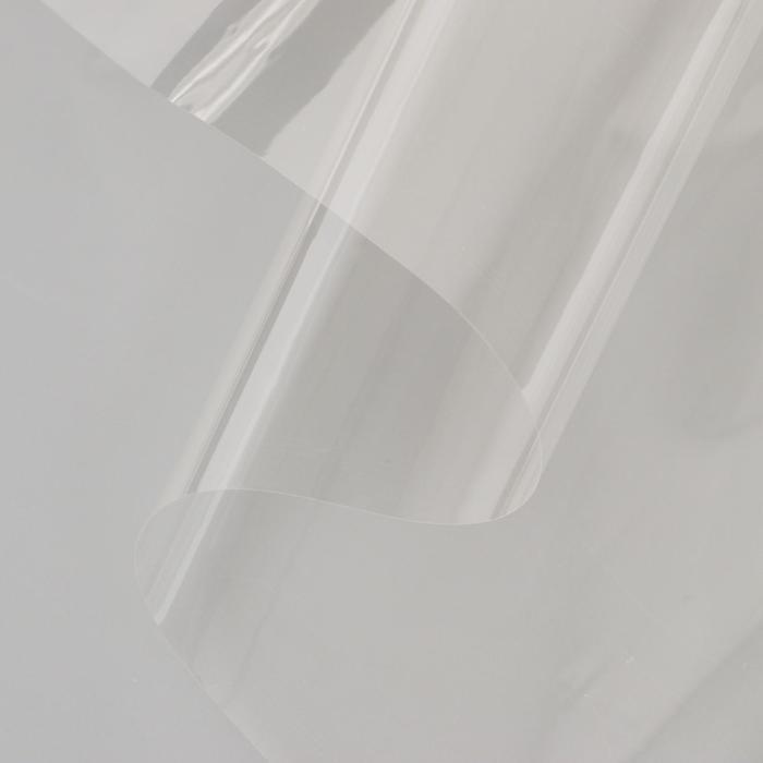 Плёнка для цветов прозрачная 0,6 х 18,6 м, 400 г, 40 мкм