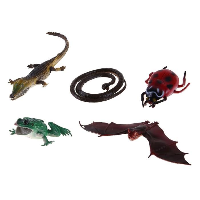 Набор животных «Пресмыкающиеся», 5 фигурок - фото 106531436