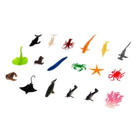 Набор животных «Морские жители», 17 фигурок с аксессуаром