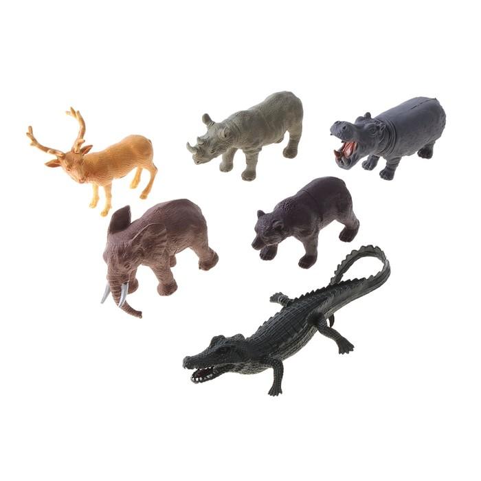 Набор животных «Дикие звери», 6 фигурок