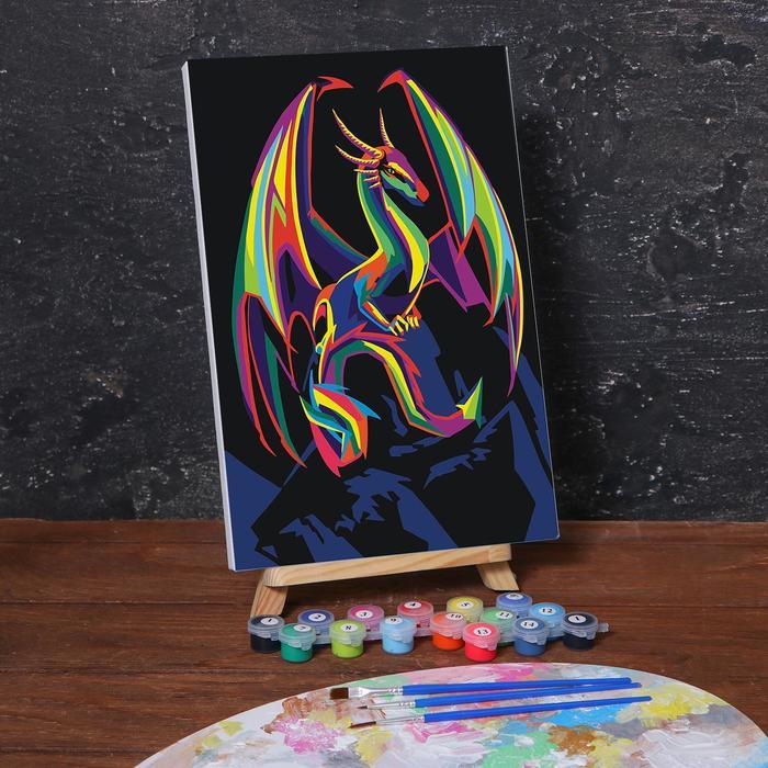 Картина по номерам на холсте с подрамником «Дракон» 20х30 см - фото 282125438