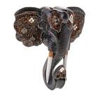 Панно Голова Слона с бивнями зеркальная 40х40 см 381607 дерево албезия
