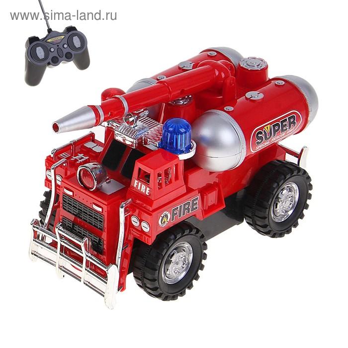 """Машина радиоуправляемая """"Пожарная охрана"""", работает от батареек"""