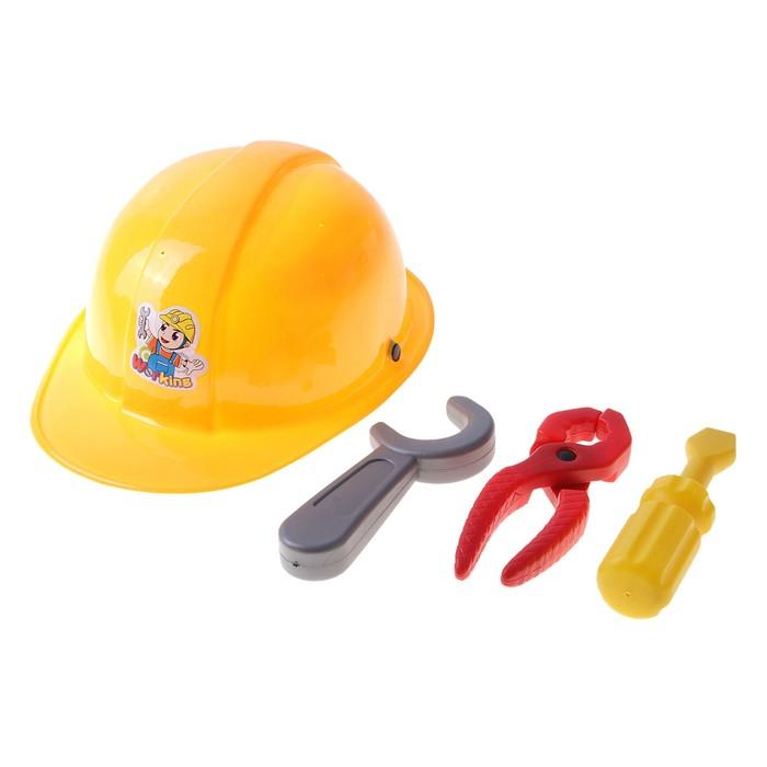 Набор инструментов, с каской, 4 элемента