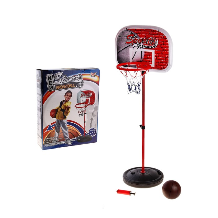 """Баскетбольный набор """"Спорт"""", с мячом, с насосом"""