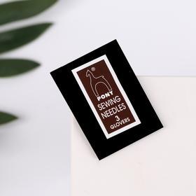 Leather needles No. 3 (set of 25 pcs, price per set).