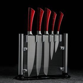 Набор ножей на подставке, Jersey, 5 предметов, цвет красный