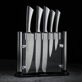Набор ножей на подставке Lightning, 5 предметов, цвет серебристый