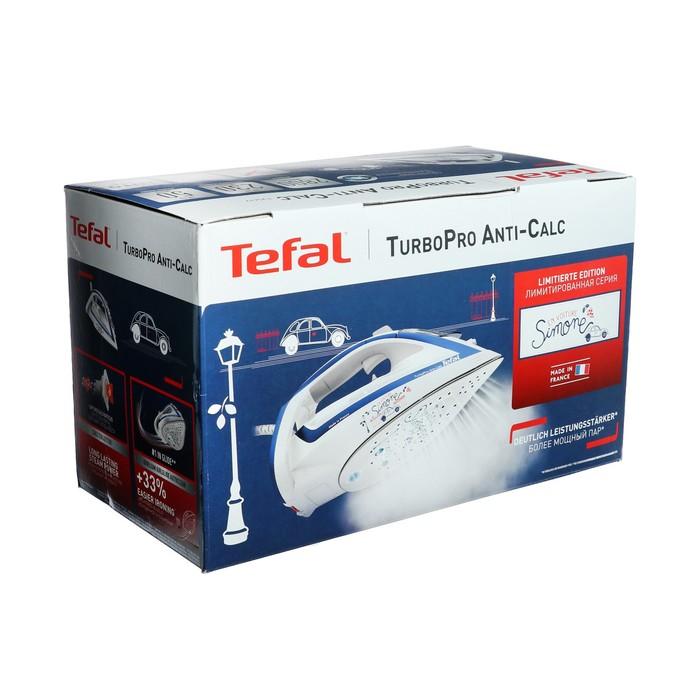 Утюг Tefal FV 5677 E0, 2600 Вт, керамическая подошва, 230 г/мин, бело-голубой