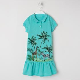 Платье для девочки, цвет мятный, рост 104 см
