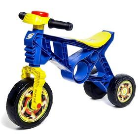 Каталка-мотоцикл трехколёсный, цвет синий