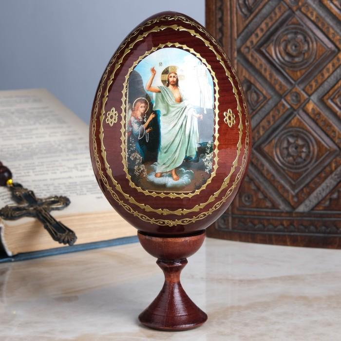 "Сувенир Яйцо на подставке икона ""Воскресенье Христово"""