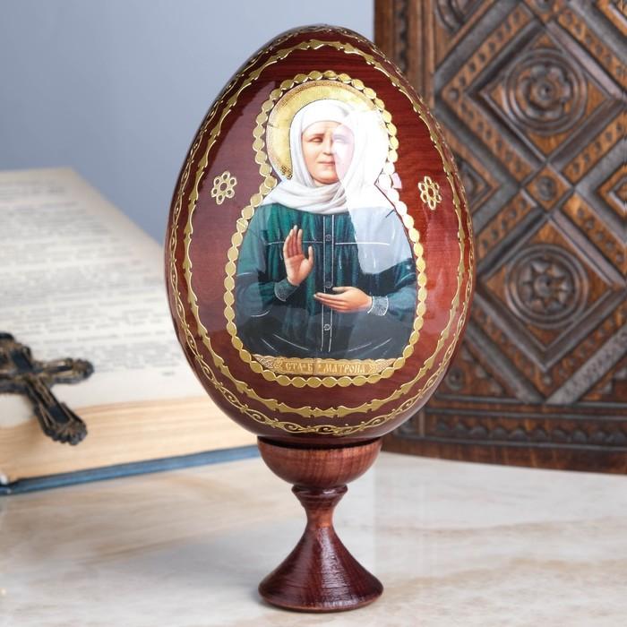 """Сувенир Яйцо на подставке икона """"Матрона Московская"""""""