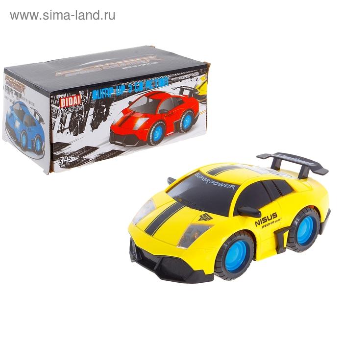 """Машина """"Супер Тачка"""", работает от батареек, световые и звуковые эффекты, цвета МИКС"""