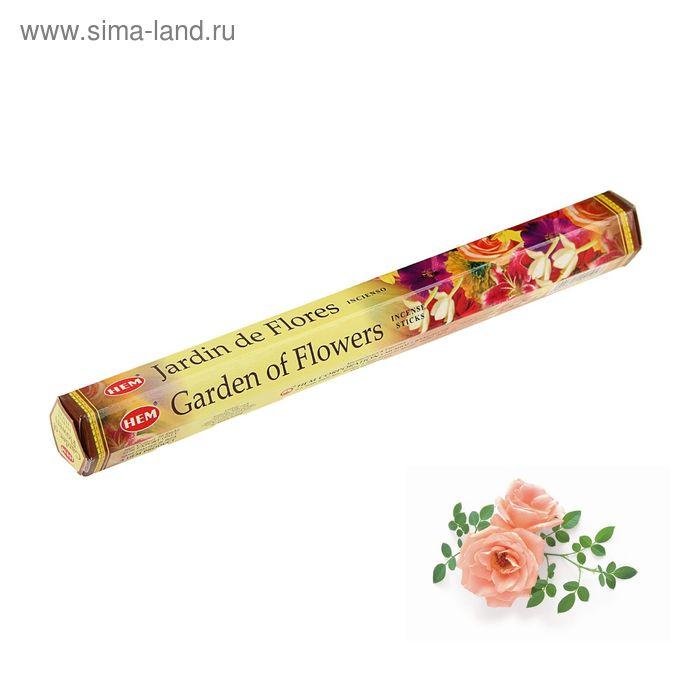 """Благовония """"HEM Garden of Flowers"""" (Цветочный сад), шестигранник, 20 палочек"""