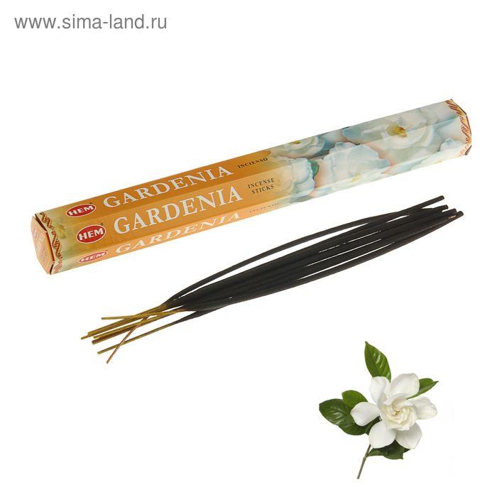 """Благовония """"HEM Gardenia"""" (Гардения), шестигранник, 20 палочек"""