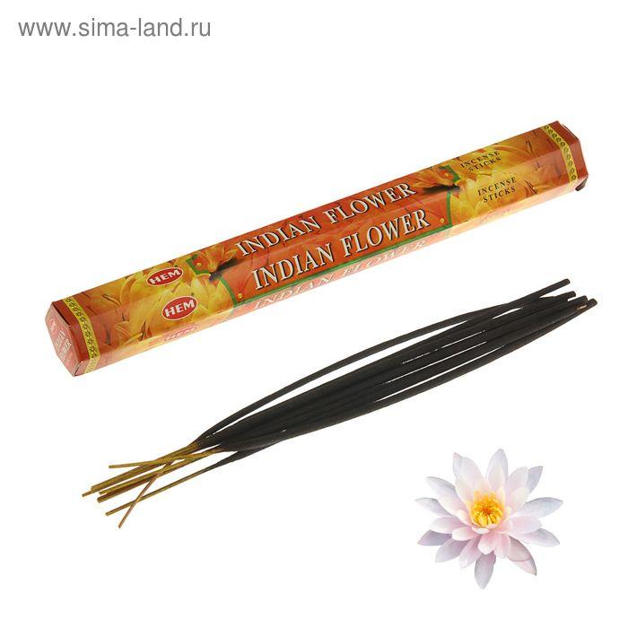 """Благовония """"HEM Indian flower"""" (Индийский цветок), шестигранник, 20 палочек"""
