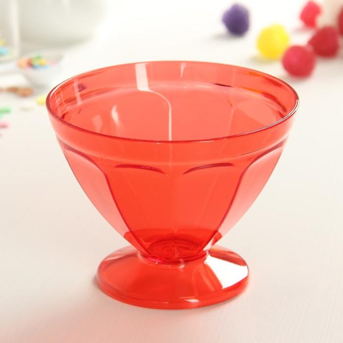 """Креманка для мороженого 250 мл """"Сладкий лед"""", цвет красный"""