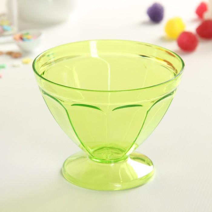 """Креманка для мороженого 250 мл """"Сладкий лед"""", цвет зеленый"""