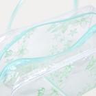 Косметичка ПВХ, отдел на молнии, 2 ручки, цвет зелёный - фото 1770435