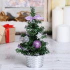Tree decoration 20 cm violet balls