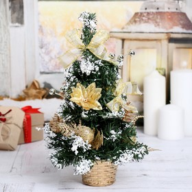 Tree decor 30 cm in pot snow gold