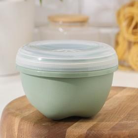 Контейнер пищевой phibo Eco Style, 750 мл, круглый с завинчивающейся крышкой, цвет МИКС