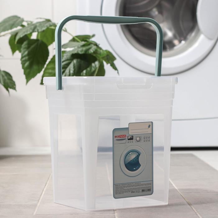 Ведро для стирального порошка 8 л, цвет МИКС