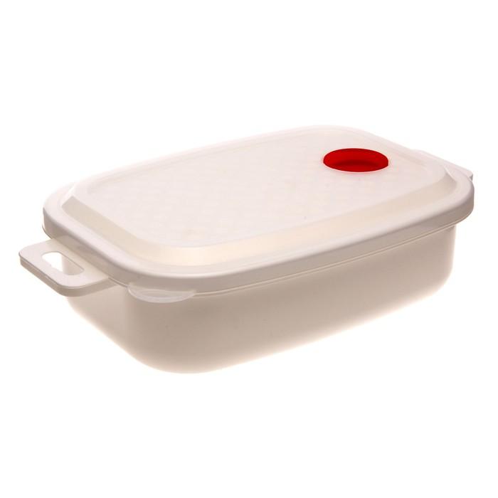 """Контейнер для холодильника и СВЧ с крышкой 1,6 л """"Традиция"""", прямоугольный"""