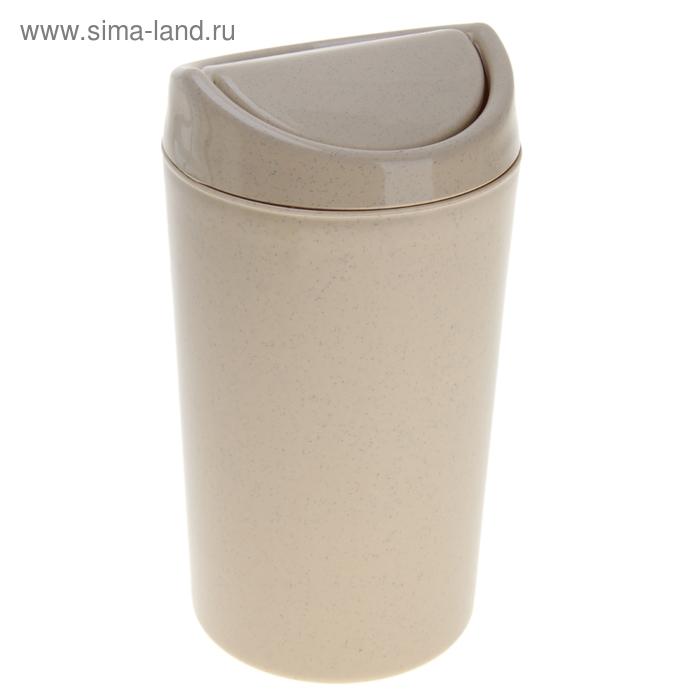 """Контейнер для мусора 1,25 л """"Овальный"""", цвет МИКС"""