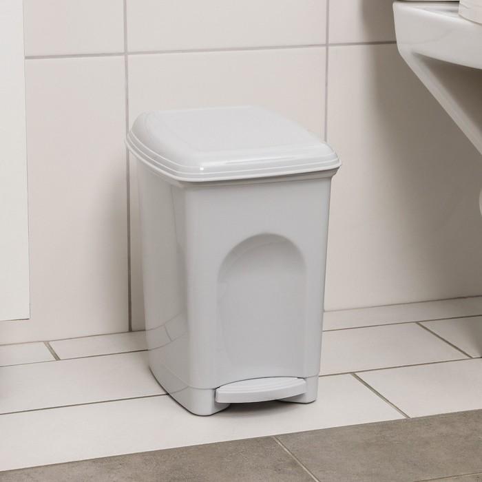 """Контейнер для мусора 7 л """"Педальный"""", цвет коричневый"""