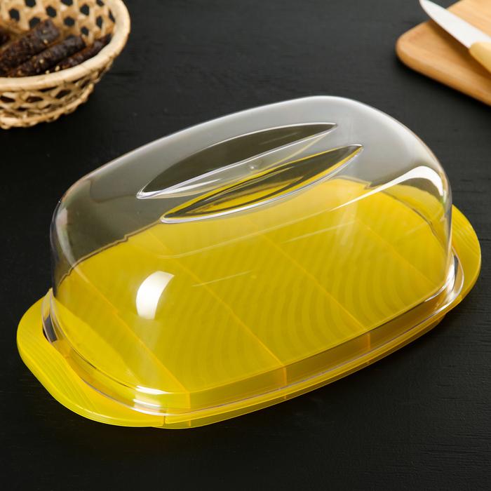 Маслёнка-сырница «Классика», цвет МИКС