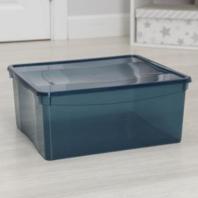 Ящик для хранения с крышкой «Колор. Стайл», 18 л, 33×39×17 см, цвет МИКС