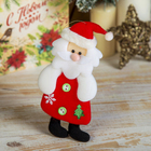 "Мягкая игрушка ""Толстячок Дед Мороз"" с ёлочкой"