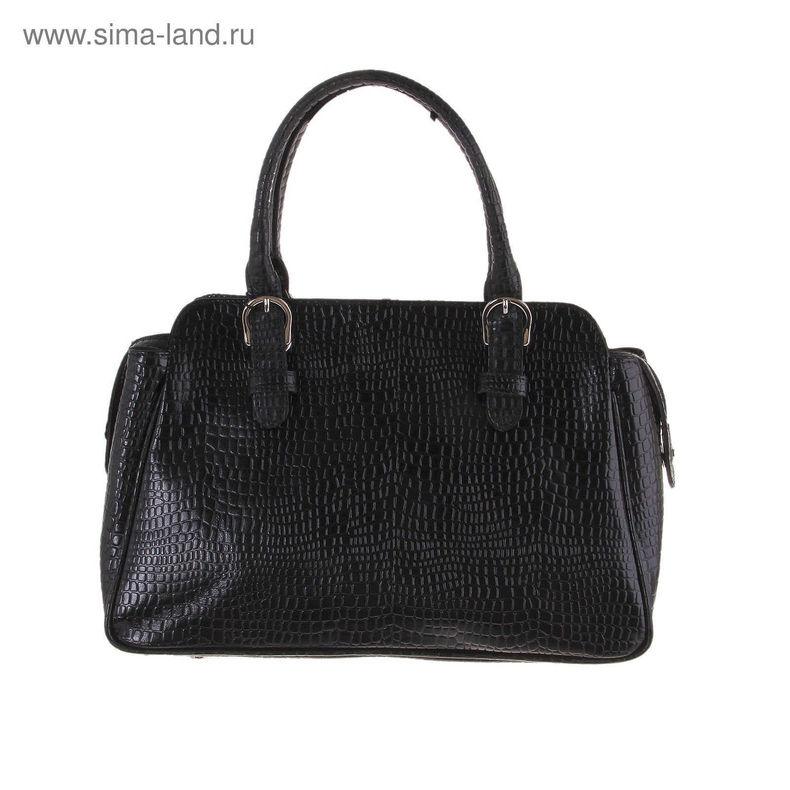 4f57aa189cd3 Сумка женская натуральная кожа, цвет черный крокодил (718652 ...